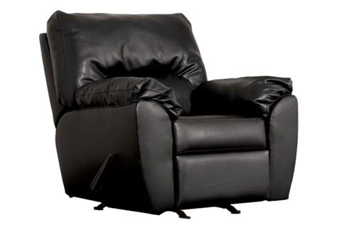 onyx durablend leather rocker recliner