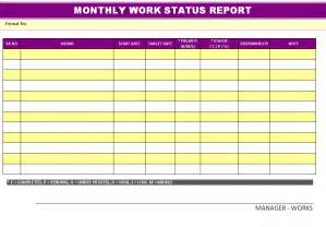 Monthly Status Report Template Word best photos of quarterly safety report template