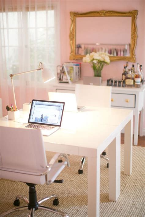 Cpmk Feminime Pink office design ideas girly feminine pink home office desk home decor