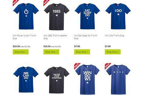 Tshirt Windows 10 Keren microsoft merch windows 10 t shirts now on sale