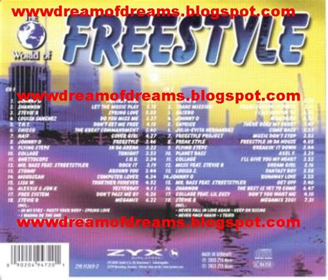 Vol 63 World Of Dreams freestyle of dreams world of freestyle vol 1