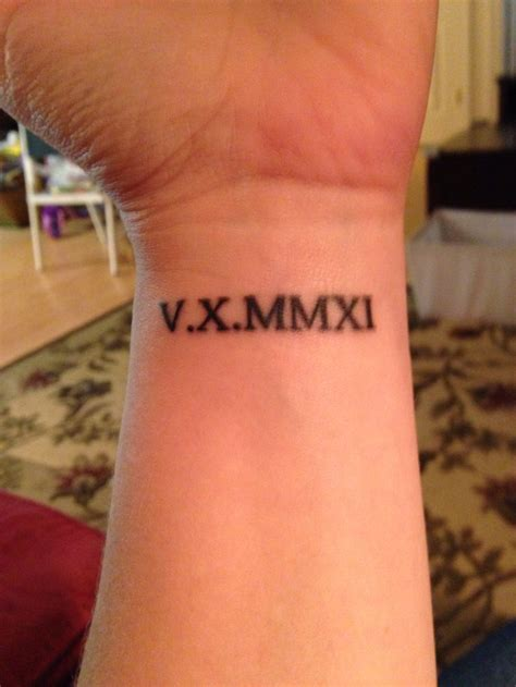 roman numeral date tattoo numeral wrist designs ideas and meaning