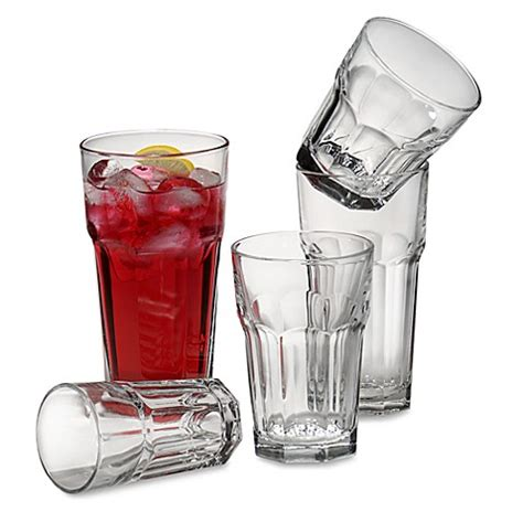 bed bath and beyond glasses libbey 174 gibraltar glass drinkware bed bath beyond