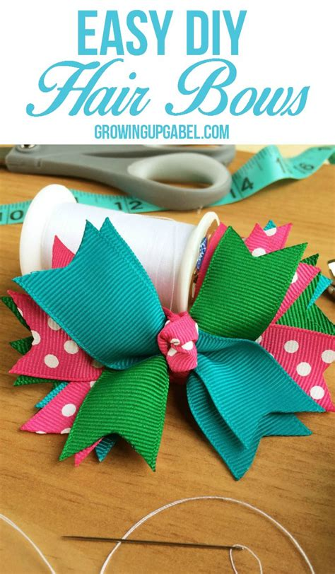 Easy Accessories To Make by How To Make Hair Bows Out Of Ribbon