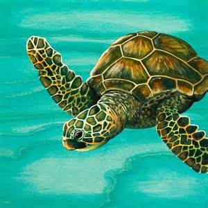turtles painting hilahila sea turtle painting by emily brantley