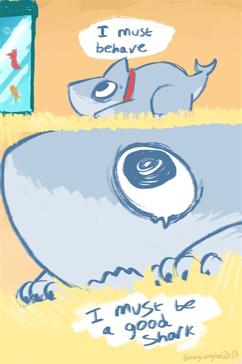 shark puppy comic help fish shark puppy fireandshellamari