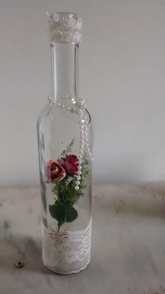 garrafa de vidro transparente decorada presentear te ba