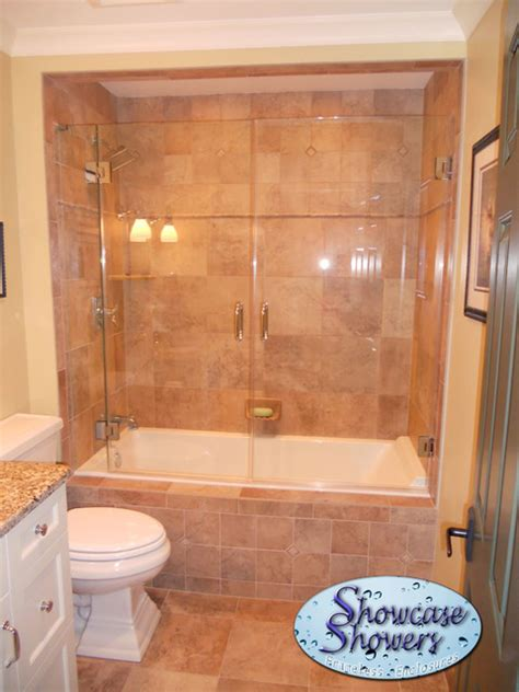 Shower Tub Combo Ideas For Bathrooms Pinterest Tub Shower Combo Glass Doors