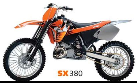 Ktm 380sx Ktm 380 Sx 2000 Technical Data Power Fuel Consumption