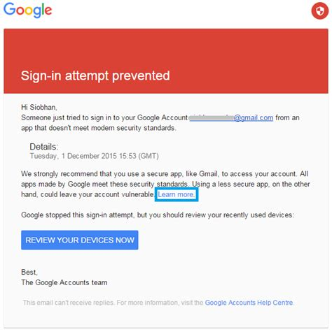email from google can t connect seo powersuite tools to my gmail account