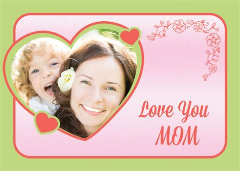 Custom Mothers Day Card Template by Free Custom Photo S Day Cards Psd Templates