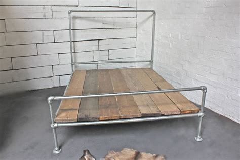 scaffolding bed frame galvanised steel and reclaimed scaffolding bed by