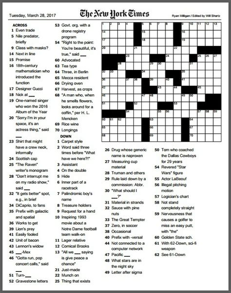 usa today crossword march 17 ryan milligan s new york times success puzzlingly 06880