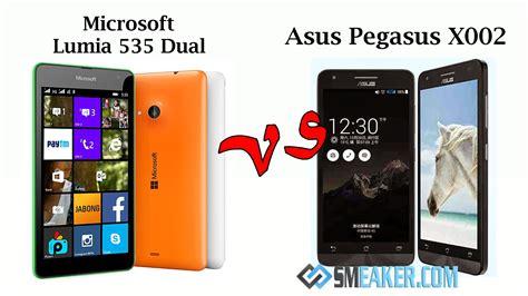 Hp Asus Terbaru Pegasus X002 harga asus pegasus x002 vs microsoft lumia 535 dual sim duel phablet 5 0 inchi kamera selfie