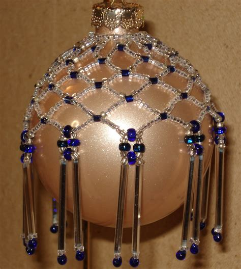 beaded christmas ornaments free patterns beading pinterest