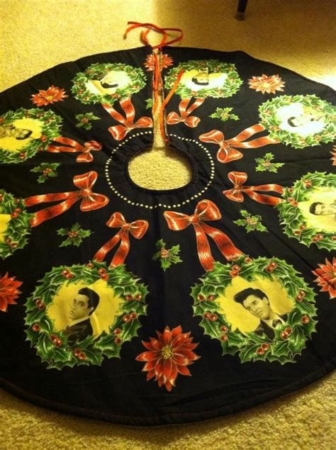 elvis christmas tree skirt 231 best images about elvis ideas on themed birthday banana sandwich