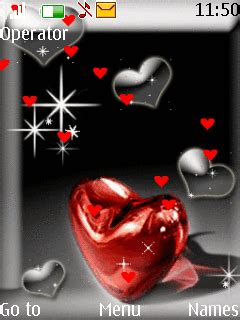 love themes wap download animated heart nokia theme mobile toones