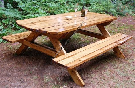 Beautiful Park Bench Table Plans Of Shape 30029