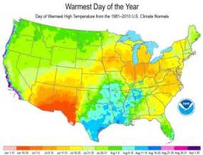 us map high temperatures mapping the day of the year in the usa watts up