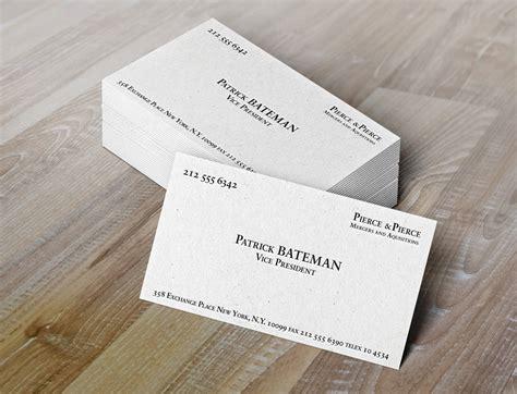 elegant american psycho business card template ny6b4