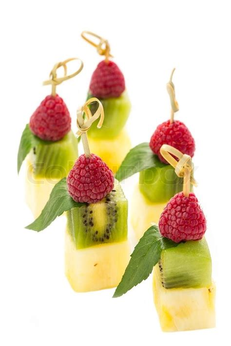 fruit canapes plate of fruit dessert canape stock photo colourbox