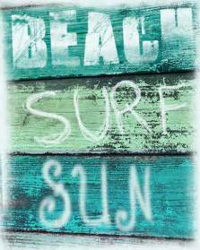 surf bathroom decor vintage sign print surf sun aqua green blue