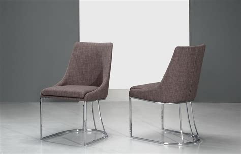 modern grey dining chairs itasca modern grey fabric dining chair set of 2
