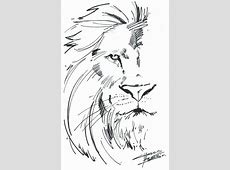 Drawn lion basic - Pencil and in color drawn lion basic Easy Tribal Animal Drawings