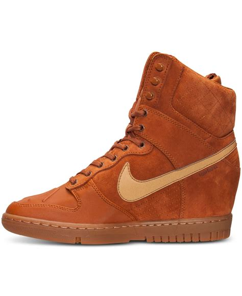 womens nike sneaker boots lyst nike s dunk sky hi 2 0 sneakerboot from