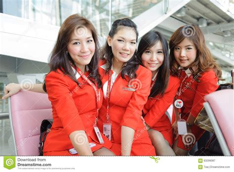 airasia crew members editorial photography image