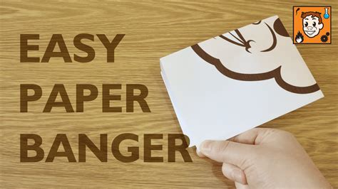 how to make a paper banger loud easy