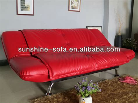 wholesale colorful leather living room folding sofa bed