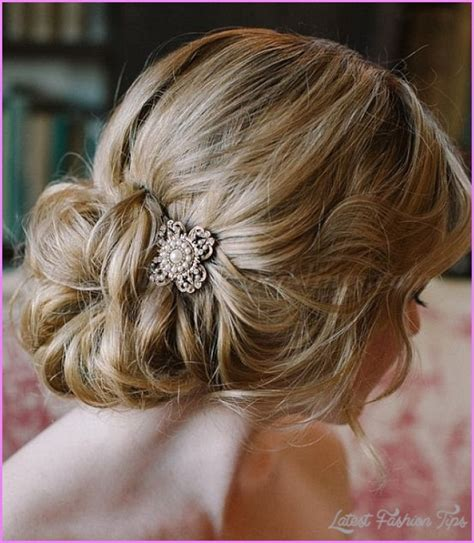 Wedding Hair Buns Images by Bridal Hairstyles Low Bun Latestfashiontips