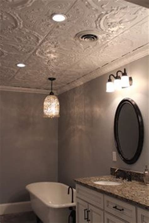 Tin Ceiling In Bathroom by Tin Ceilings Make This Rustic Bathroom With Freestanding