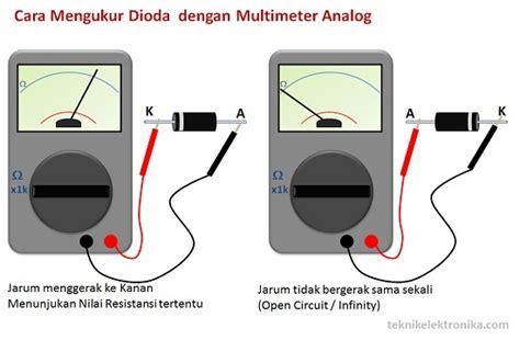 Multimeter Jarum mengukur atau menguji komponen elektronika ilman
