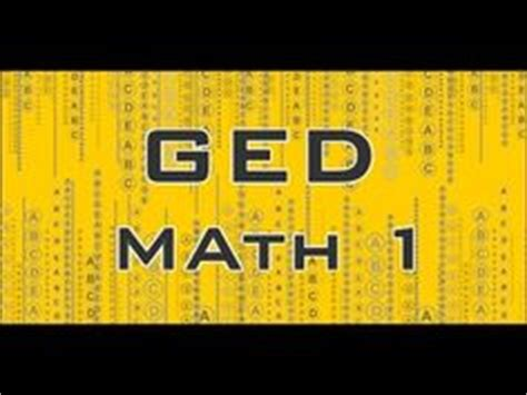 finding the right ged math lessons to prep for the ged is
