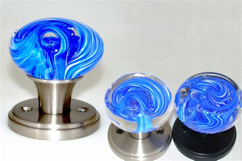 blue glass cabinet knobs art glass door knobs gemstone hardware by myterra