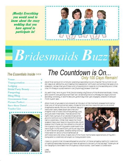 newsletter for my bridesmaids weddingbee photo gallery