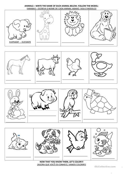 animal activities worksheet free esl printable
