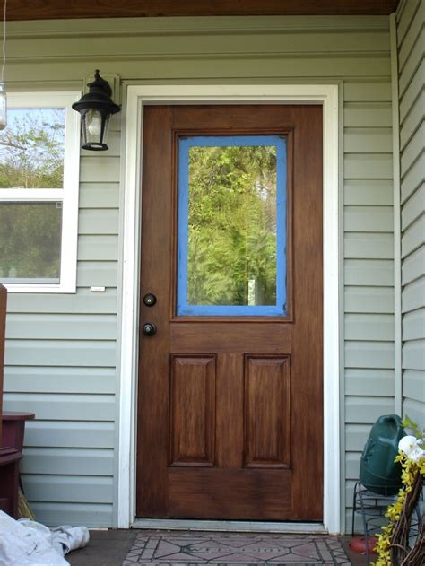 Stain For Fiberglass Exterior Doors How To Quot Stain Quot A Fiberglass Door Outdoor Ideas