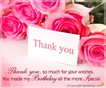 Thank You Card For Birthday Wishes Birthday Thank You Cards