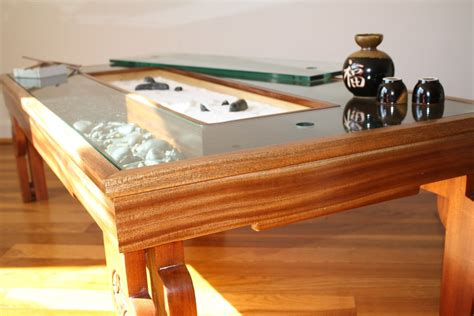 zen garden coffee table 14 corner view with garden open