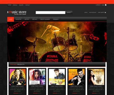 free website templates for musicians 15 free html website templates templatemag