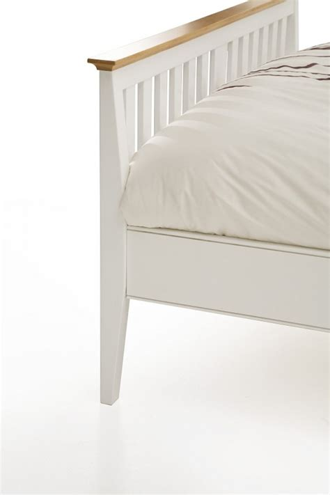 White Wooden Bed Frame Single Serene Grace 3ft Single White Wooden Bed Frame With Low Foot End By Serene Furnishings