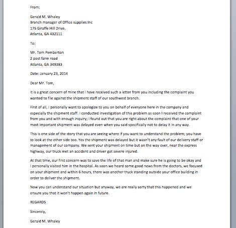 Business Apology Letter For A Mistake business apology letter for mistake sle business