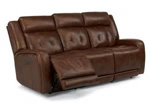 flexsteel leather reclining sofa flexsteel living room leather power reclining sofa with