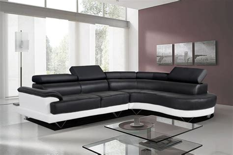 black and white leather sofa comfort with black and white leather sofa eva furniture