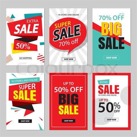 Discount Promo Sale Wakai Terlaris 9 set of sale website banner templates social media banners