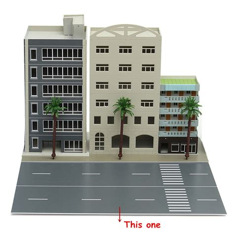 N Scale 1 87 Gauge Grand Modern Buildings Highway Trees Modern Design Ho