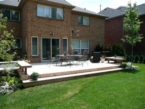 backyard deck cost canada decks and patios pictures ideas